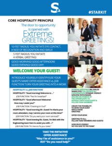 Core Hospitality Principle - Extreme Greetings